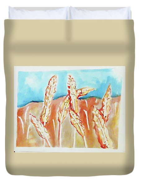 Wheat Field Duvet Cover by Loretta Nash
