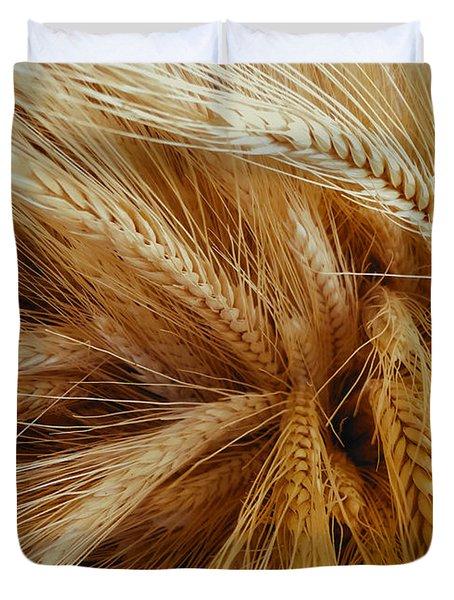Wheat In The Sunset Duvet Cover