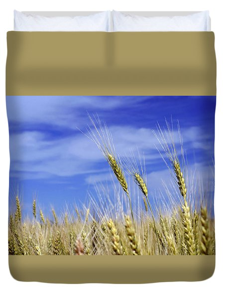 Wheat Trio Duvet Cover by Keith Armstrong