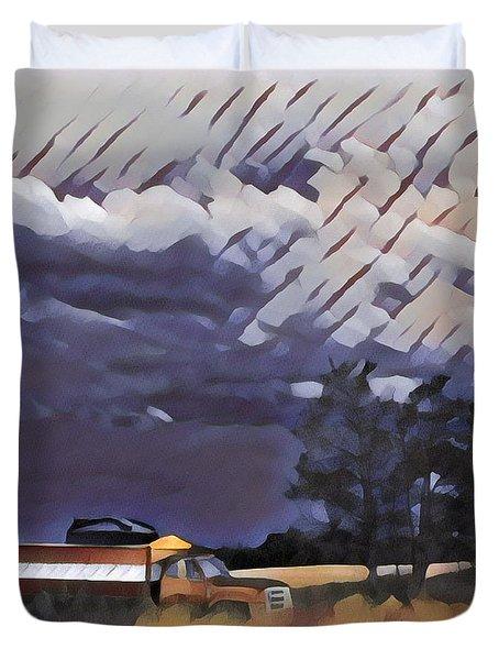 Wheat Wagon Duvet Cover