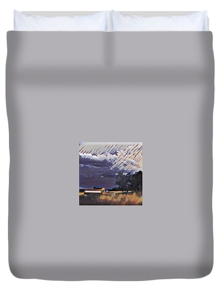 Wheat Wagon Duvet Cover