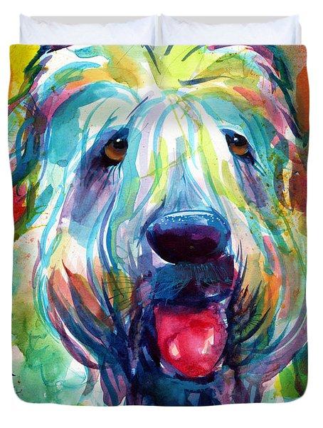 Wheaten Terrier Dog Portrait Duvet Cover