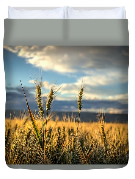 Wheat's Up Duvet Cover