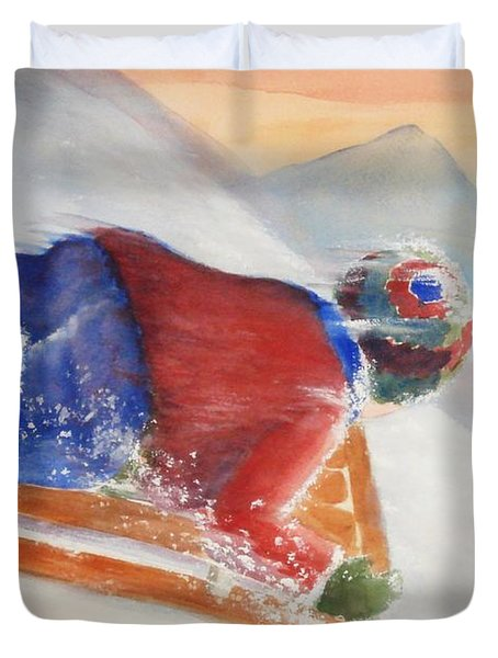 Wheee Duvet Cover by Marilyn Jacobson