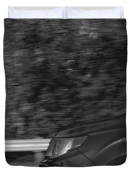Wheel Blur Photograph Duvet Cover