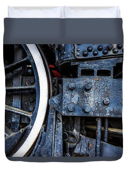Wheel In Black II Duvet Cover by Jae Mishra