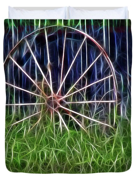 Wheel Of Fortune Duvet Cover by EricaMaxine  Price