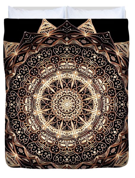 Wheel Of Life Mandala Duvet Cover