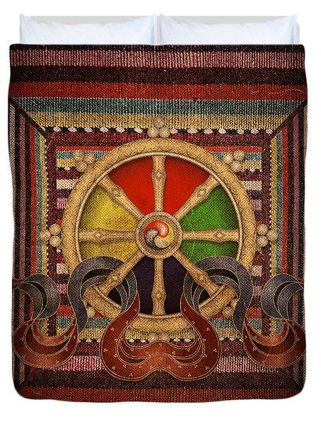 Wheel Of The Dharma Duvet Cover
