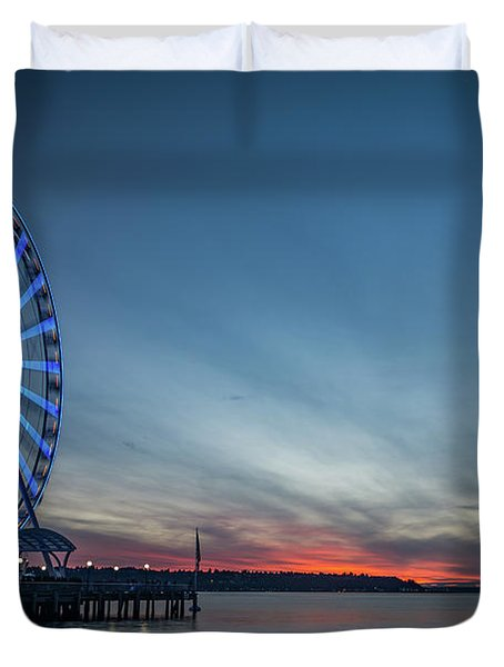 Wheel On The Pier Duvet Cover