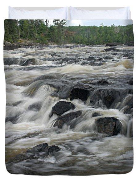 Wheelbarrow Falls Duvet Cover by Larry Ricker