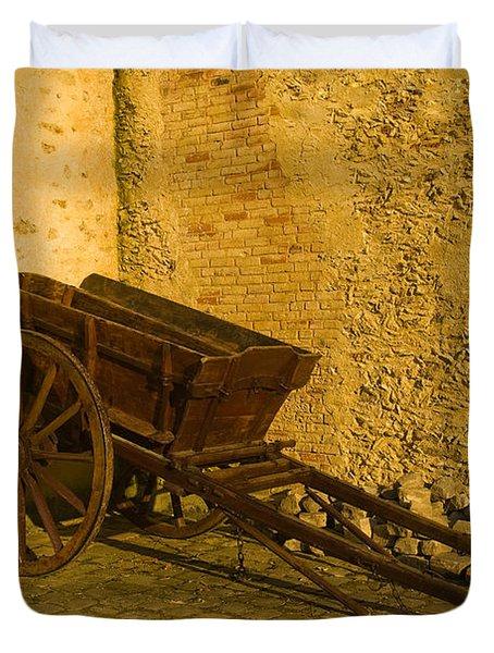 Wheelbarrow Duvet Cover by Sebastian Musial