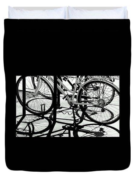 Wheels Duvet Cover by David Gilbert