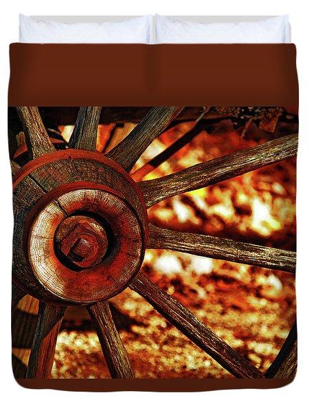 Wheels Of Time Duvet Cover
