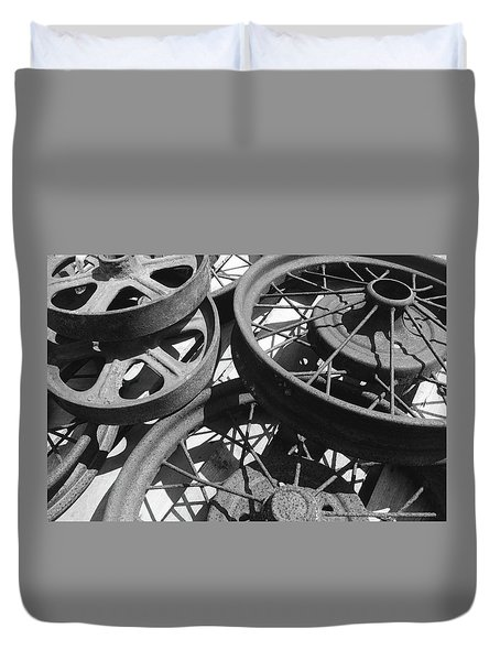 Wheels Of Time Duvet Cover by Tim Good