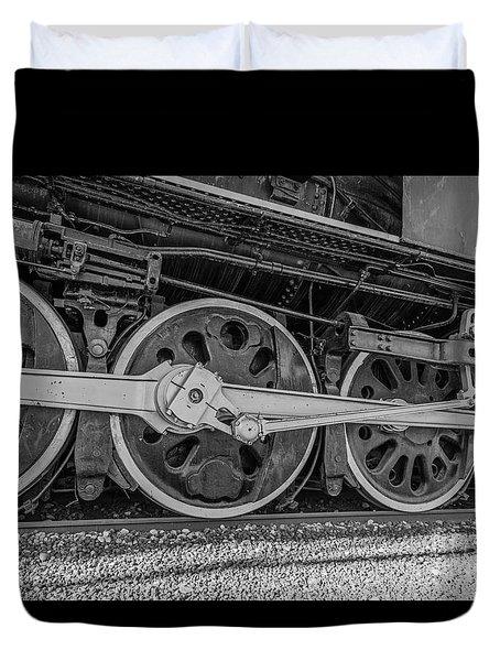 Wheels On A Locomotive Duvet Cover