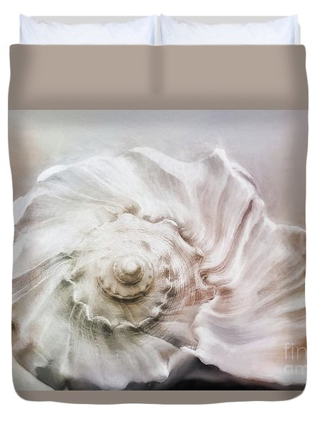 Duvet Cover featuring the photograph Whelk Shell by Benanne Stiens