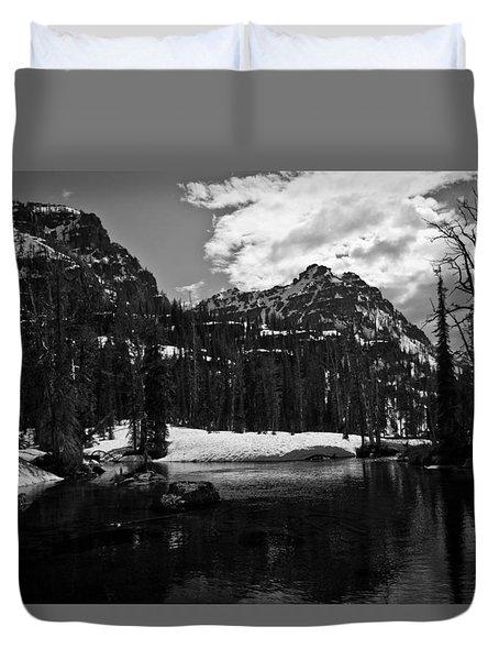 Whelp Lake, Mission Mountains Duvet Cover
