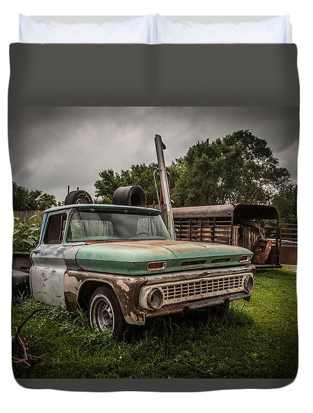 When A Truck Was Duvet Cover by Ray Congrove