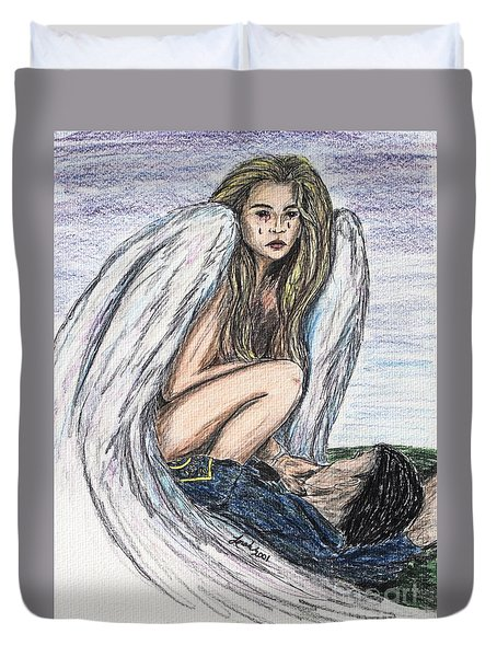 When Angels Cry Duvet Cover