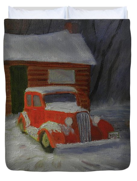 When Cars Were Big And Homes Were Small Duvet Cover