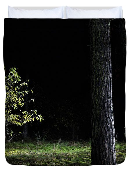 Duvet Cover featuring the photograph When First Leaves Start To Fall - Autumn by Dirk Ercken