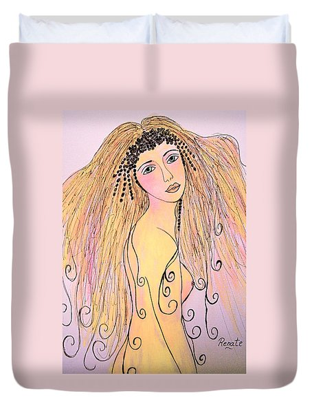 When I First Saw Her..... Duvet Cover
