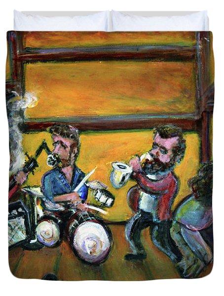 When I Paint My Masterpiece Duvet Cover by Jason Gluskin