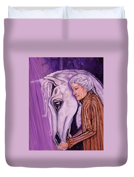 When I'm An Old Horsewoman Duvet Cover