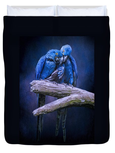 When I'm Feeling Blue Duvet Cover by Brian Tarr