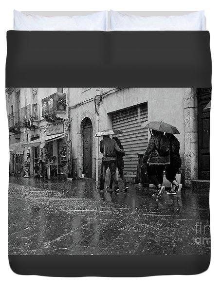 When It Rains It Pours Duvet Cover