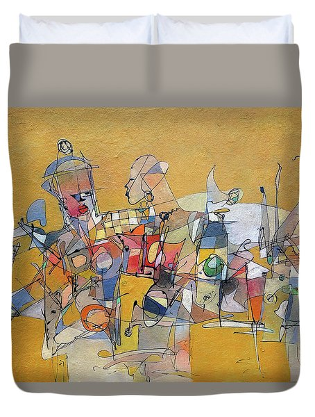 When Its Not Your War Duvet Cover by Ronex Ahimbisibwe