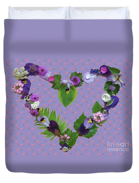 Duvet Cover featuring the mixed media When Love Is New by Nancy Lee Moran