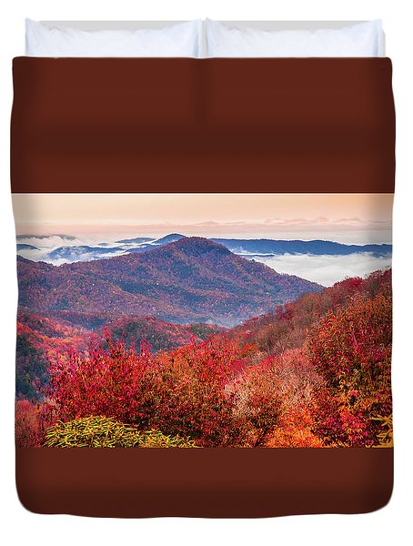 Duvet Cover featuring the photograph When Mountains Sing by Karen Wiles