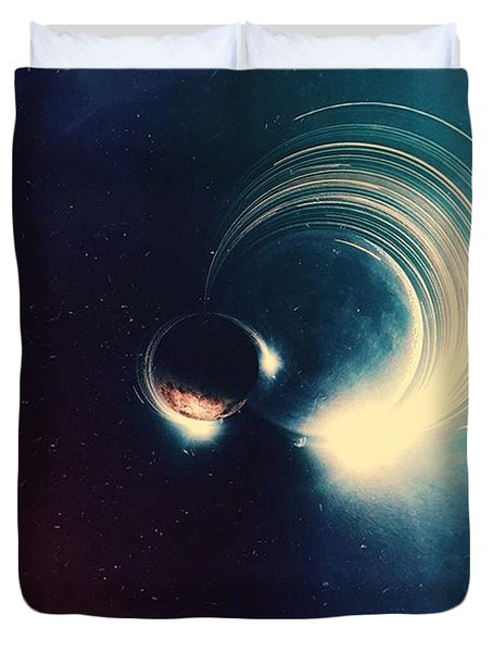 When Our Worlds Collide Duvet Cover