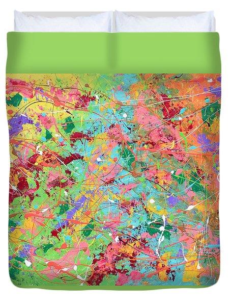 When Pollock Was Happy Duvet Cover