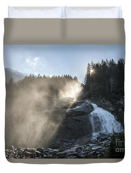 When Sunlight And Water Spray Meet 10 Duvet Cover