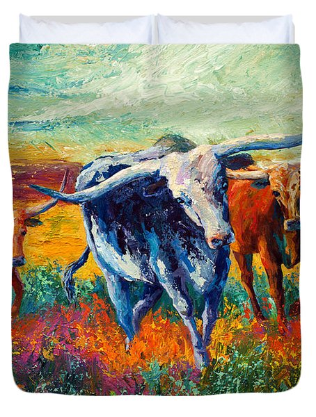When The Cows Come Home Duvet Cover
