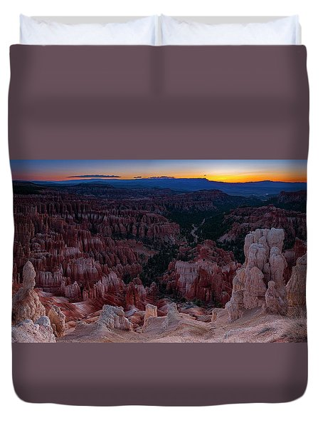 Duvet Cover featuring the photograph When The Light Was Born by Edgars Erglis
