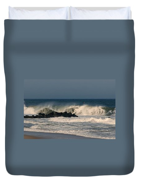When The Ocean Speaks - Jersey Shore Duvet Cover