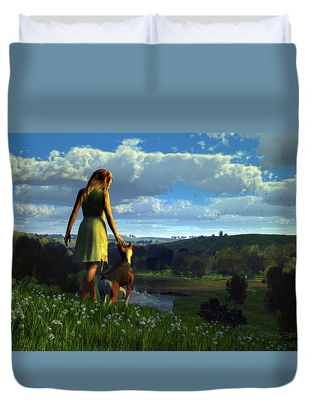 When The Sparrows Sing Duvet Cover