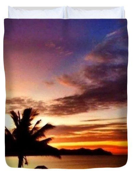 When The Sun Has Set, No Candles Can Duvet Cover