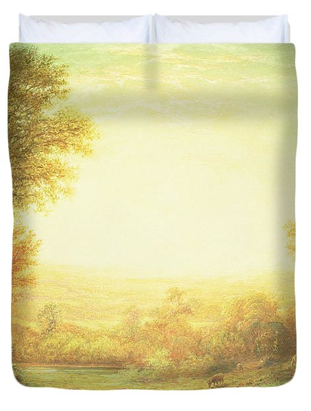 When The Sun In Splendor Fades Duvet Cover