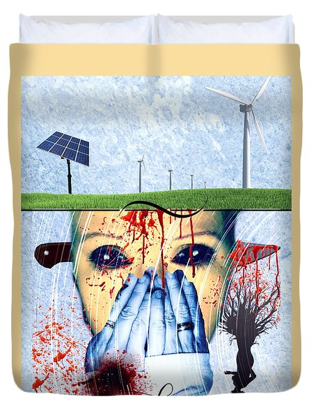 When They Take The Mind Duvet Cover by Vennie Kocsis