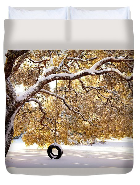 When Winter Blooms Duvet Cover