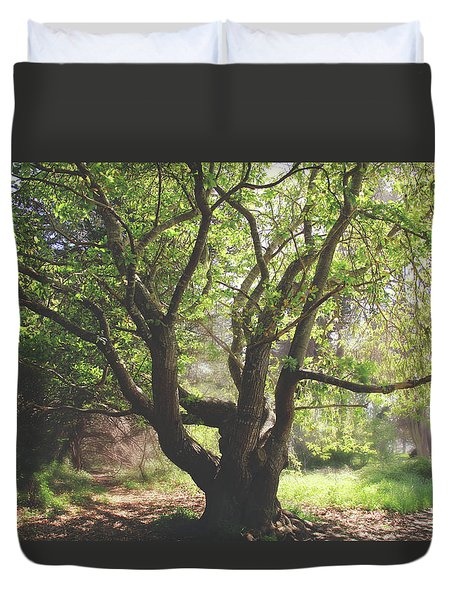 Duvet Cover featuring the photograph When You Need Shelter by Laurie Search