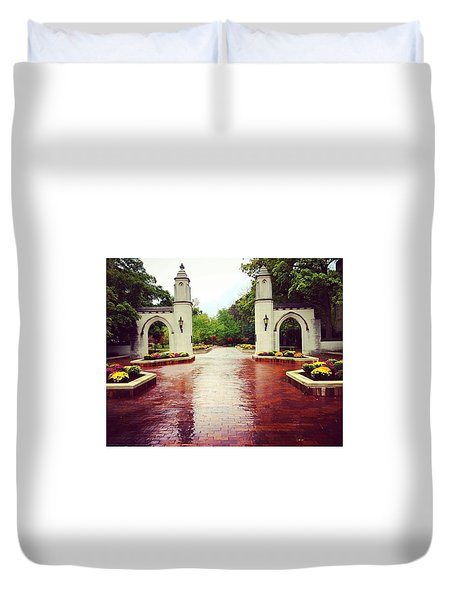 Indiana University Duvet Cover by Haley Church