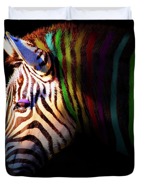 When Zebras Dream 7d8908 Square Duvet Cover