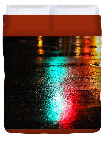 Whenever It Rains Duvet Cover