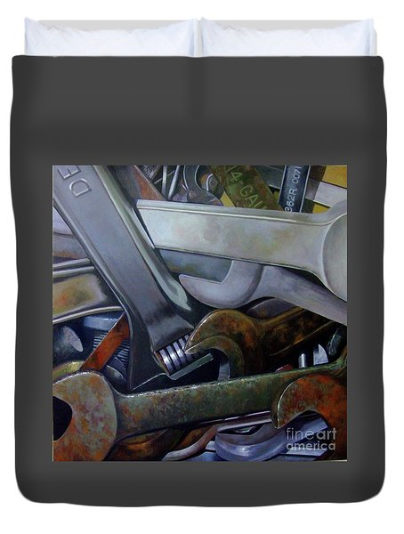 Where Have All The Mechanics Gone Duvet Cover
